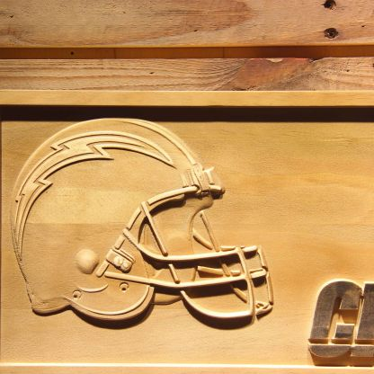 Los Angeles Chargers Helmet Wood Sign neon sign LED