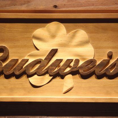 Budweiser Shamrock Outline Wood Sign neon sign LED