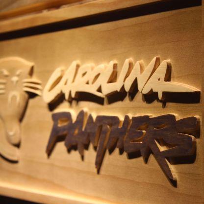 Carolina Panthers Wood Sign neon sign LED
