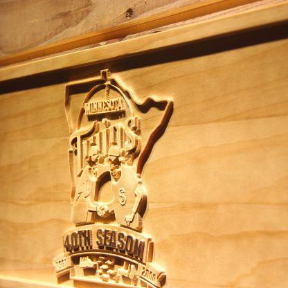 Minnesota Twins 40th Season Logo Wood Sign - Legacy Edition neon sign LED