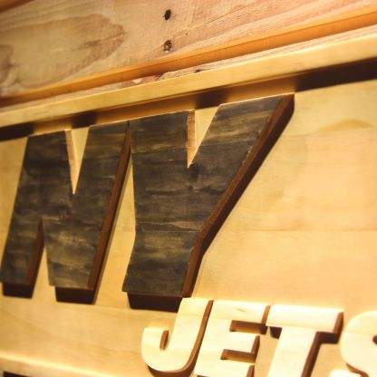New York Jets NY Wood Sign neon sign LED