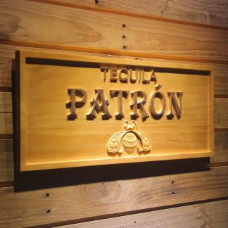 Patron Tequila Wood Sign neon sign LED