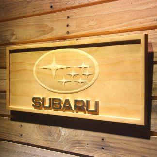 Subaru Wood Sign neon sign LED