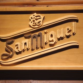 San Miguel Wood Sign neon sign LED