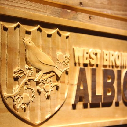 West Bromwich Albion Football Club Wood Sign - Legacy Edition neon sign LED