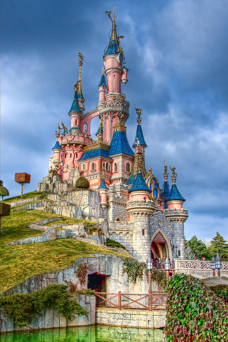 disney, Sleeping_Beauty_Castle_by_azerinn