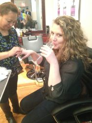 Nikki getting her nails did