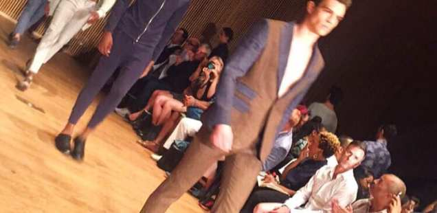 Front Row at Loris Diran SS16 Men's Collection with Juana Grant
