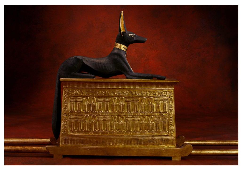 Portable Shrine with Anubis Figure