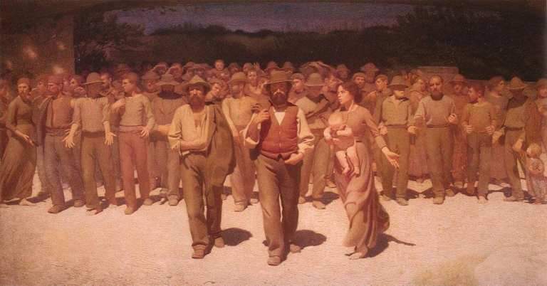 The Fourth Estate is a famous picture painted by Giuseppe Pellizza da Volpedo in 1901, originally entitled The Path of Workers.