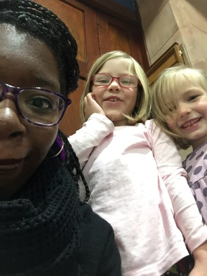 After church selfies with Carys and Aderyn