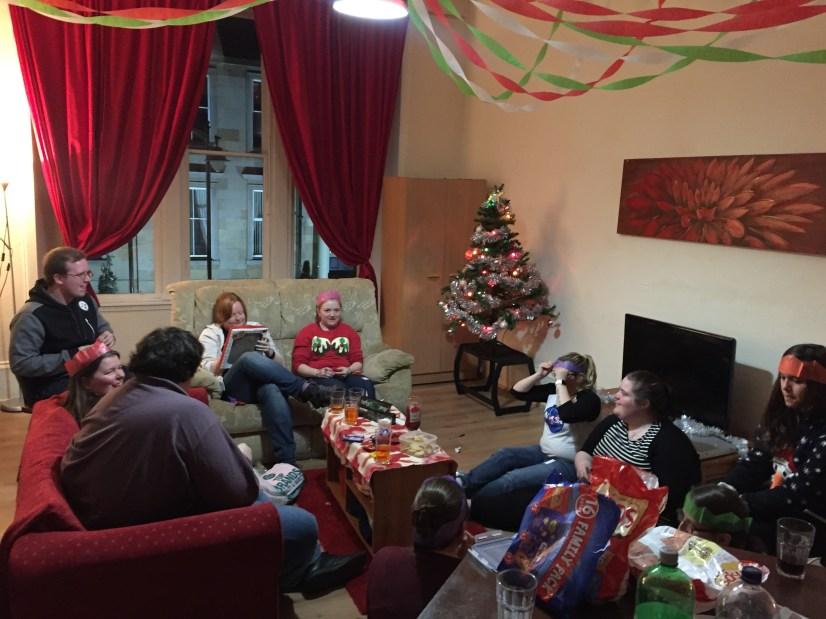 COSY Glasgow Christmas party at the YAV crib