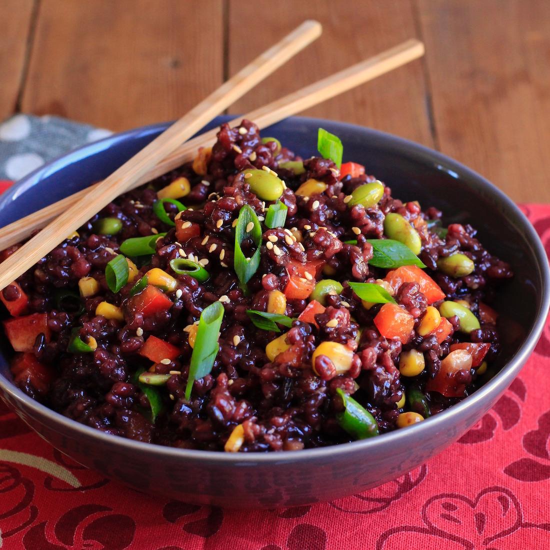 Sesame Ginger Barley and Wild Rice Salad3