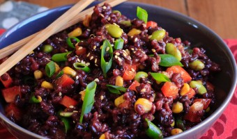 Sesame Ginger Wild Rice and Barley Salad