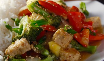 Sweet Pineapple Tempeh Stir Fry