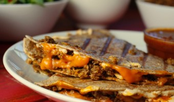 Cauliflower Walnut Taco Meat Quesadillas