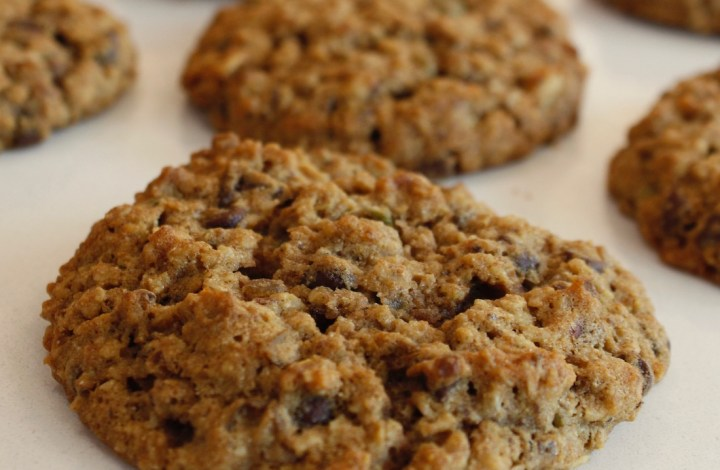 Cinnamon Spice Coconut Lentil Chocolate Chip Cookies