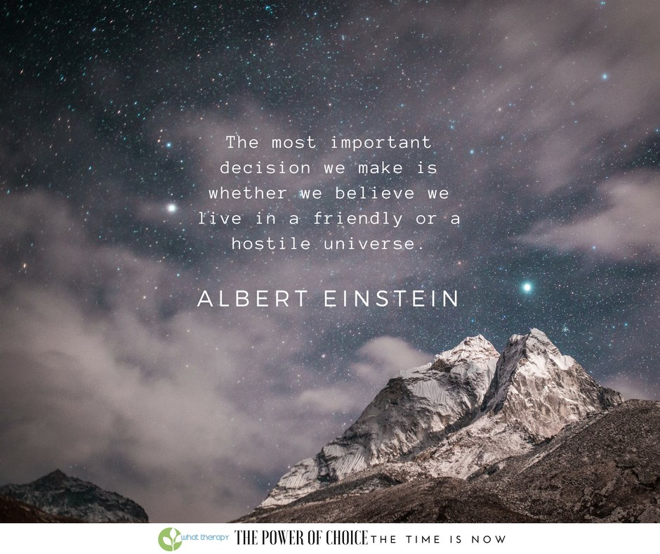 Einstein and the Friendly Universe