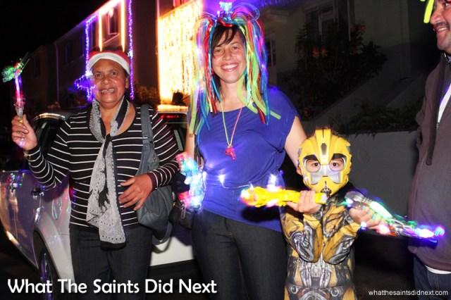 Even a Transformer made it into the Christmas parade