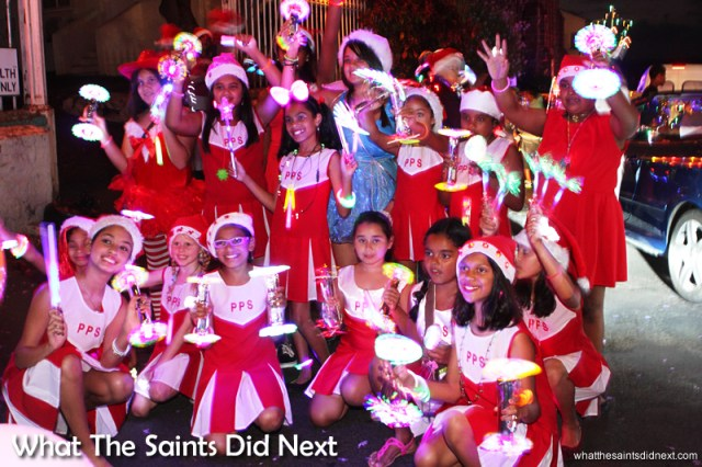 The cheerleaders of Pilling Primary School - St Helena Festival of Lights 2014