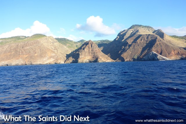 The trip offers great views of St Helena's coastline.
