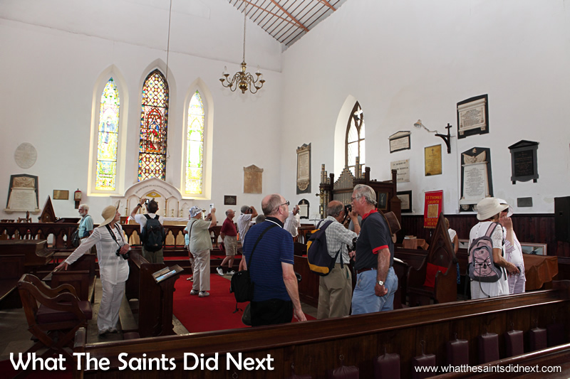 Inside the oldest Anglican church in the southern hemisphere, St James.