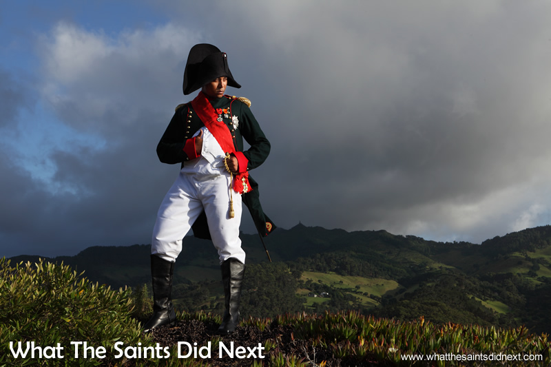 The Napoleon photo shoot on St Helena with Merrill Joshua.