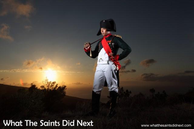 The Napoleon photo shoot on St Helena with Merrill Joshua.