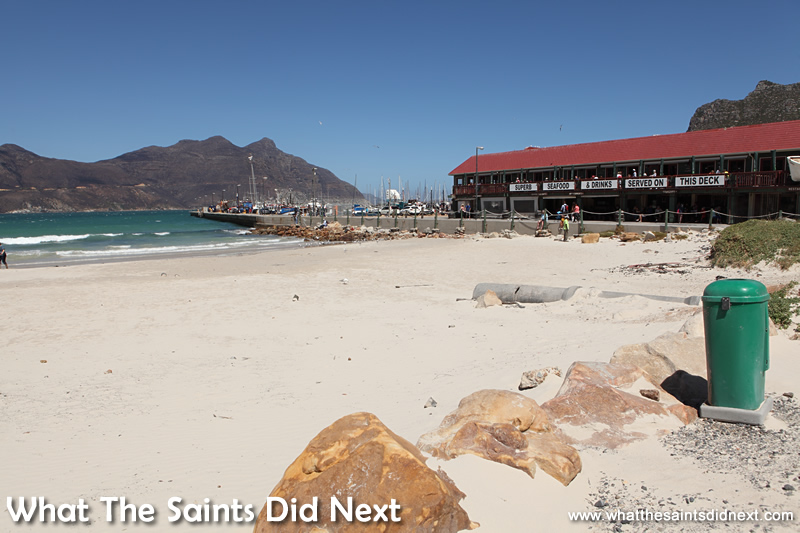 The Mariners Wharf is one of the best Hout Bay restaurants there's a gorgeous view of the beach.