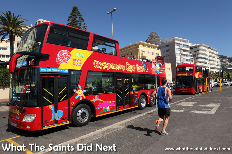 The Cape Town City Sightseeing tour bus.
