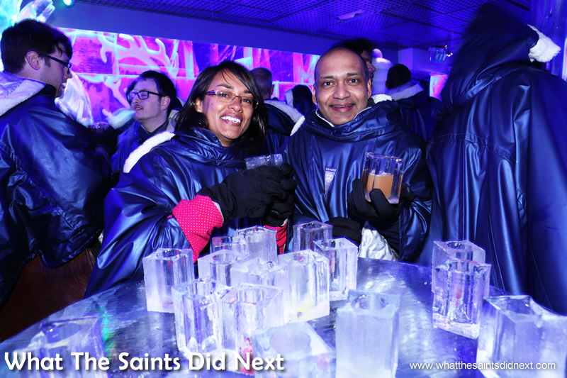 It didn't take long for all the ice glasses to get mixed up. Icebar London – Quite Literally The Coolest London Experience.