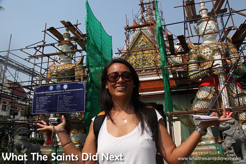 Wat Arun, Temple of Dawn – we clearly chose the wrong time to visit. Welcome to the building site.