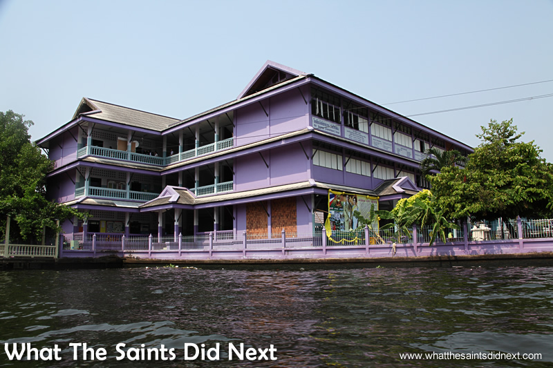 On the Bangkok Klong tour, smart apartment blocks can be found throughout the canal network.