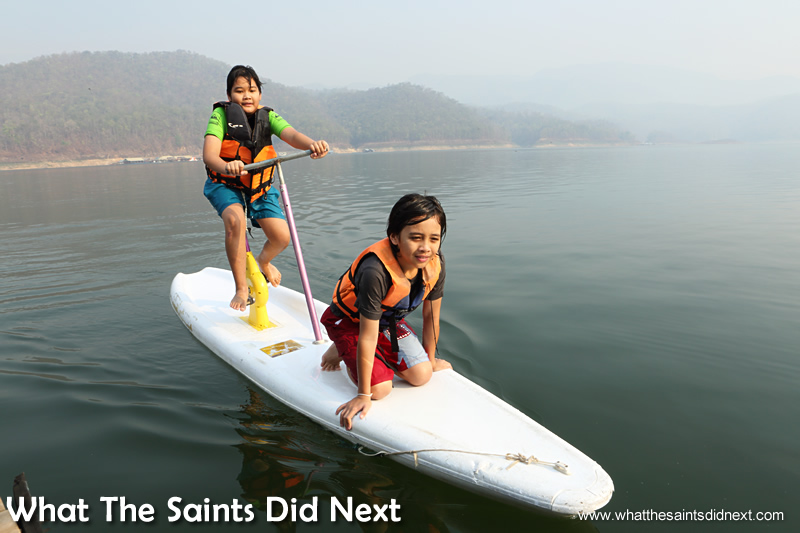 The range of water toys, such as the pedal surf board, is brilliant. Mountain Float - Thailand's Secret Holiday Hideaway.