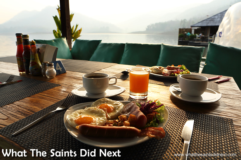 Could there be a breakfast setting more perfect than this? Mountain Float - Thailand's Secret Holiday Hideaway.