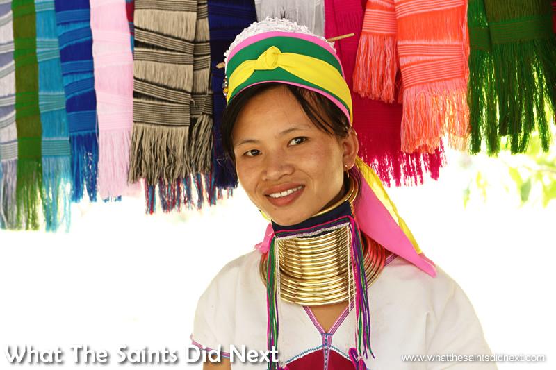 Beautiful smile of a Karen Long Neck lady.