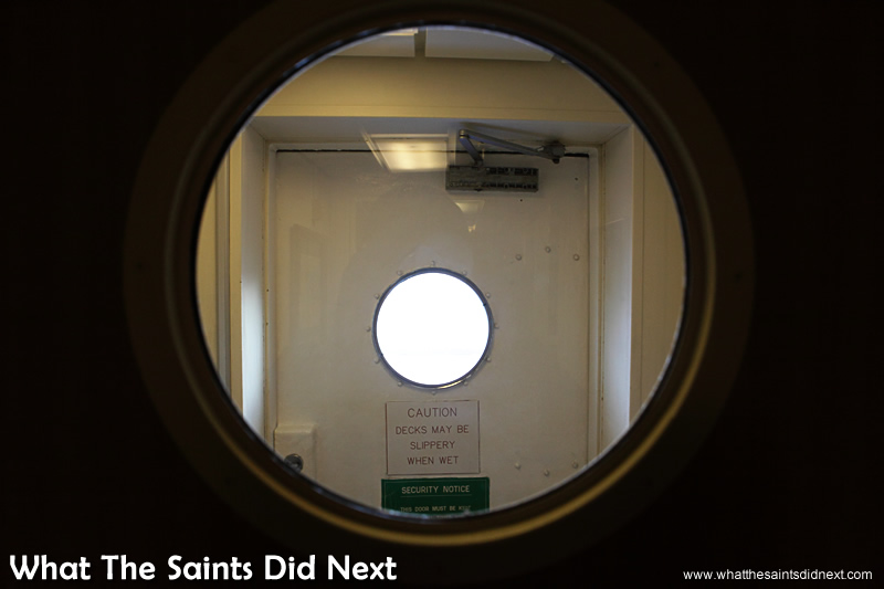 Careful with the heavy doors.  Photographs of the RMS St Helena.