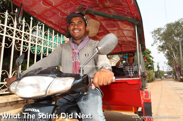 On our way back from another Cambodia excursion with Nim, our choice for best tuk tuk driver in Phnom Penh, Cambodia.