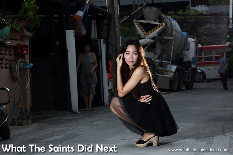 Many of the locals became 'extras' during our Bangkok street photoshoot.