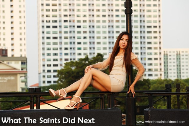The backdrop of Bangkok for our photo-shoot was a real treat. Our Bangkok Street Photoshoot.