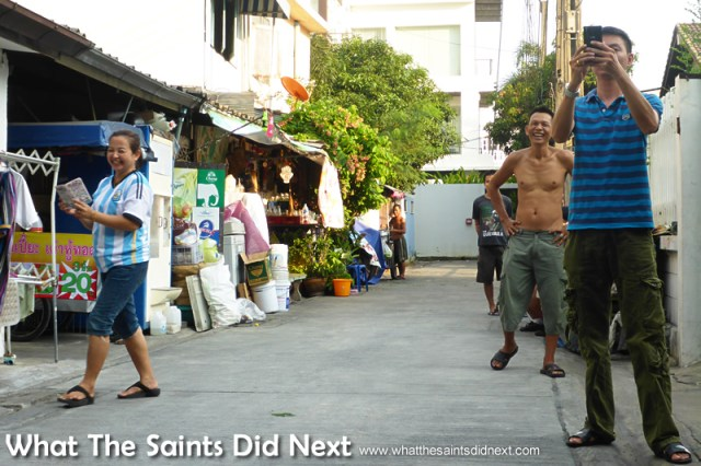 Everyone along the street came out to watch our photo-shoot. Our Bangkok Street Photoshoot.