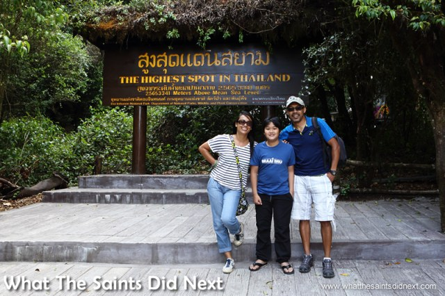 What The Saints Did Next visiting Doi Inthanon, the highest mountain in Thailand.