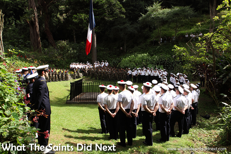 Visiting French Navy sailors hold a special remembrance service at Napoleon's Tomb in 2014.