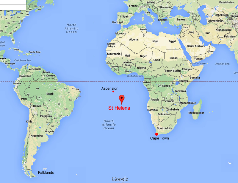 The questions - Where is St Helena. What size is St Helena ...