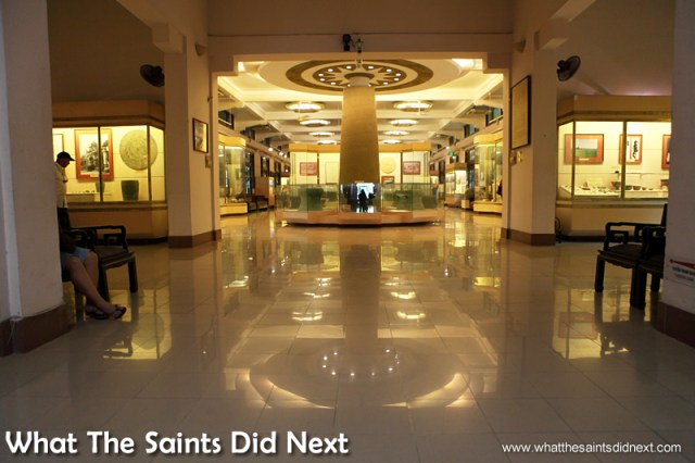 The grand interior hallways. The National Museum of Vietnamese History.