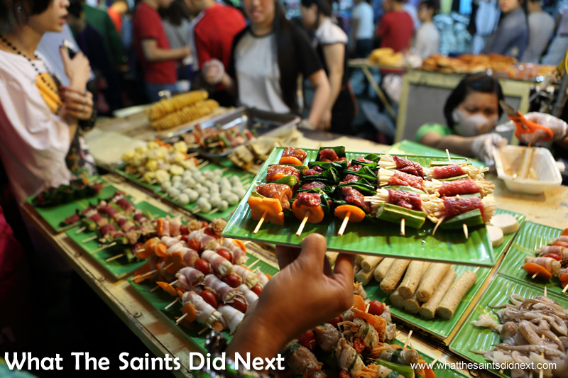 Proof that fast food can also be exciting and healthy at the Hanoi night market.