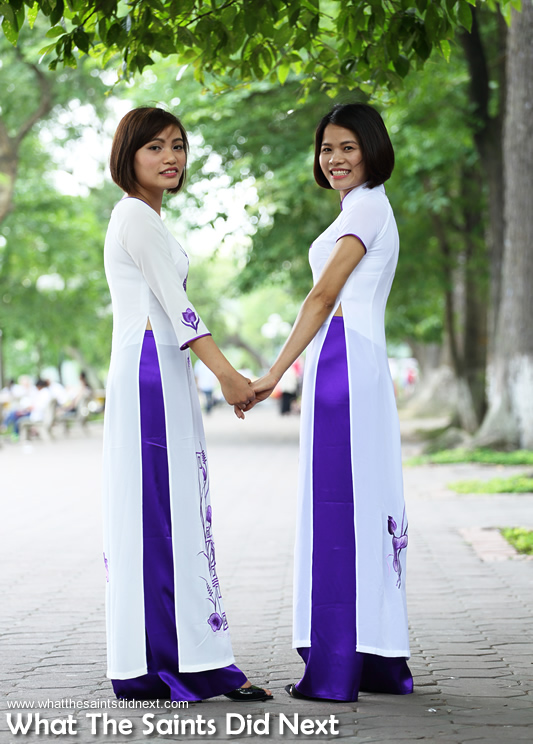 Vietnamese women clothing is subtle and feminine.