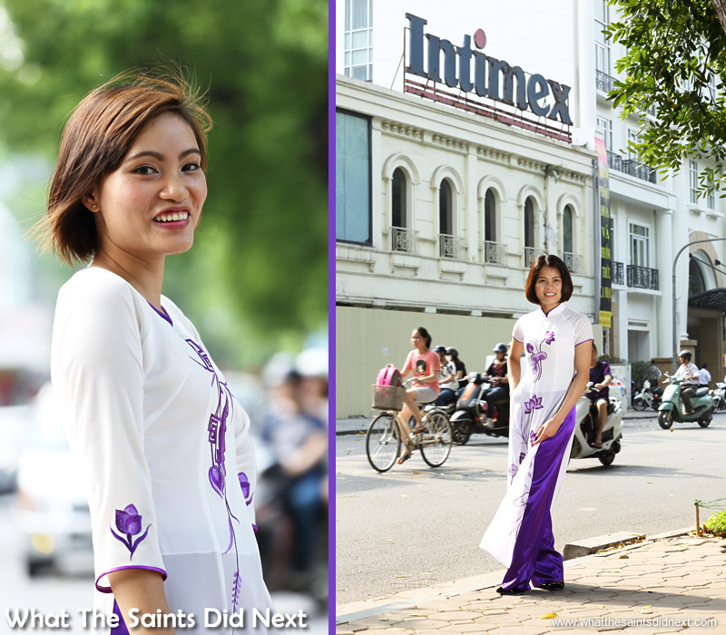 Both these shots lit with strobe lighting, two of the few that weren't done using natural light. The Ao Dai photoshoot in Hanoi.