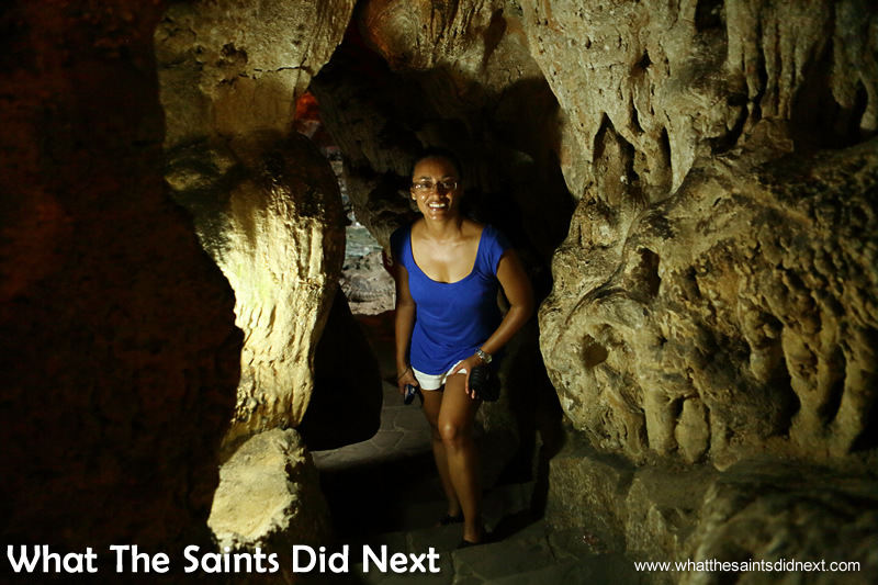 Sharon, What The Saints Did Next, inside the Sung Sot Cave.