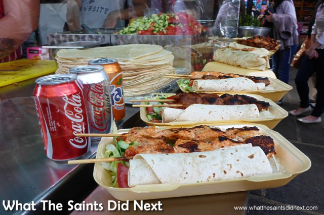 Too much to take in.  Camden Market street food.
